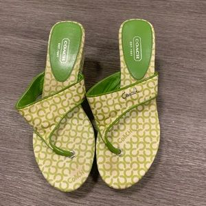 [Coach] Green Wedge Sandals